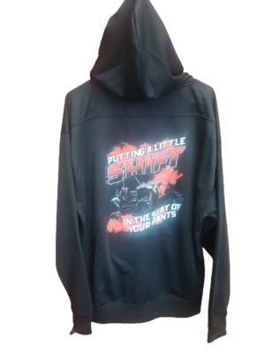 Lace up hoodie back